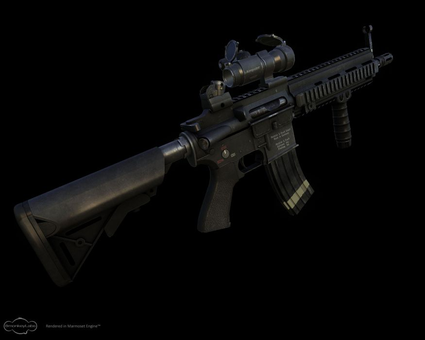 Heckler & Koch 416 weapon gun military rifle    eq wallpaper