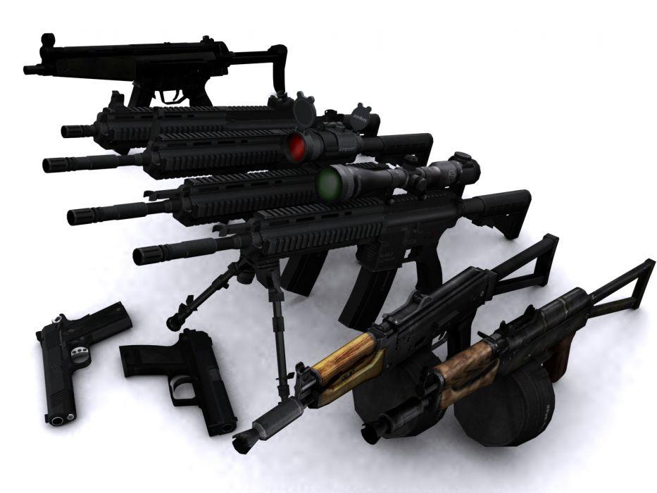 Heckler & Koch 416 weapon gun military rifle   r wallpaper