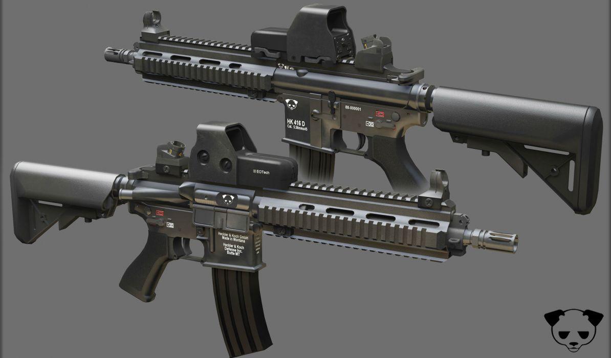 Heckler & Koch 416 weapon gun military rifle   rw wallpaper