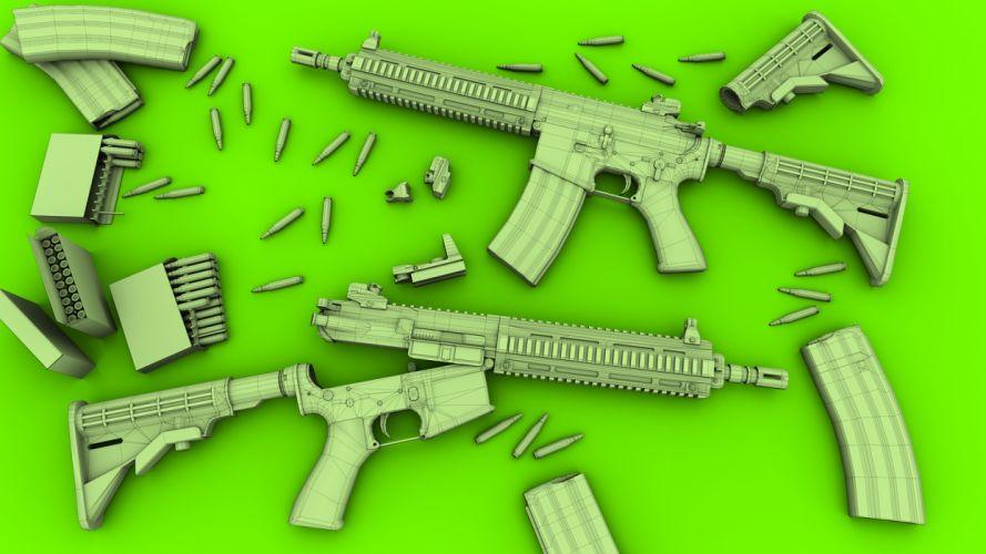 Heckler & Koch 416 weapon gun military rifle e wallpaper