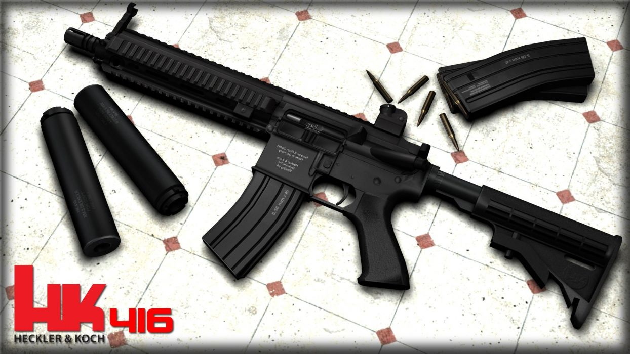 Heckler & Koch 416 weapon gun military rifle ammo        r wallpaper