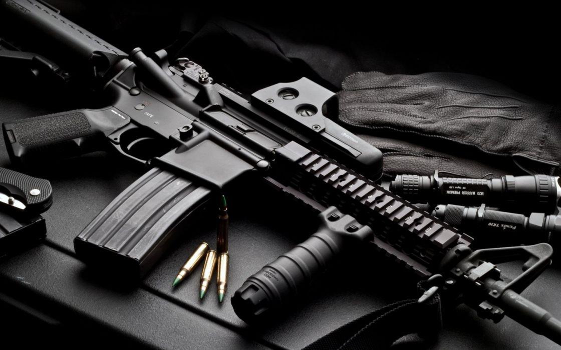 Heckler & Koch 416 weapon gun military rifle ammo   d wallpaper