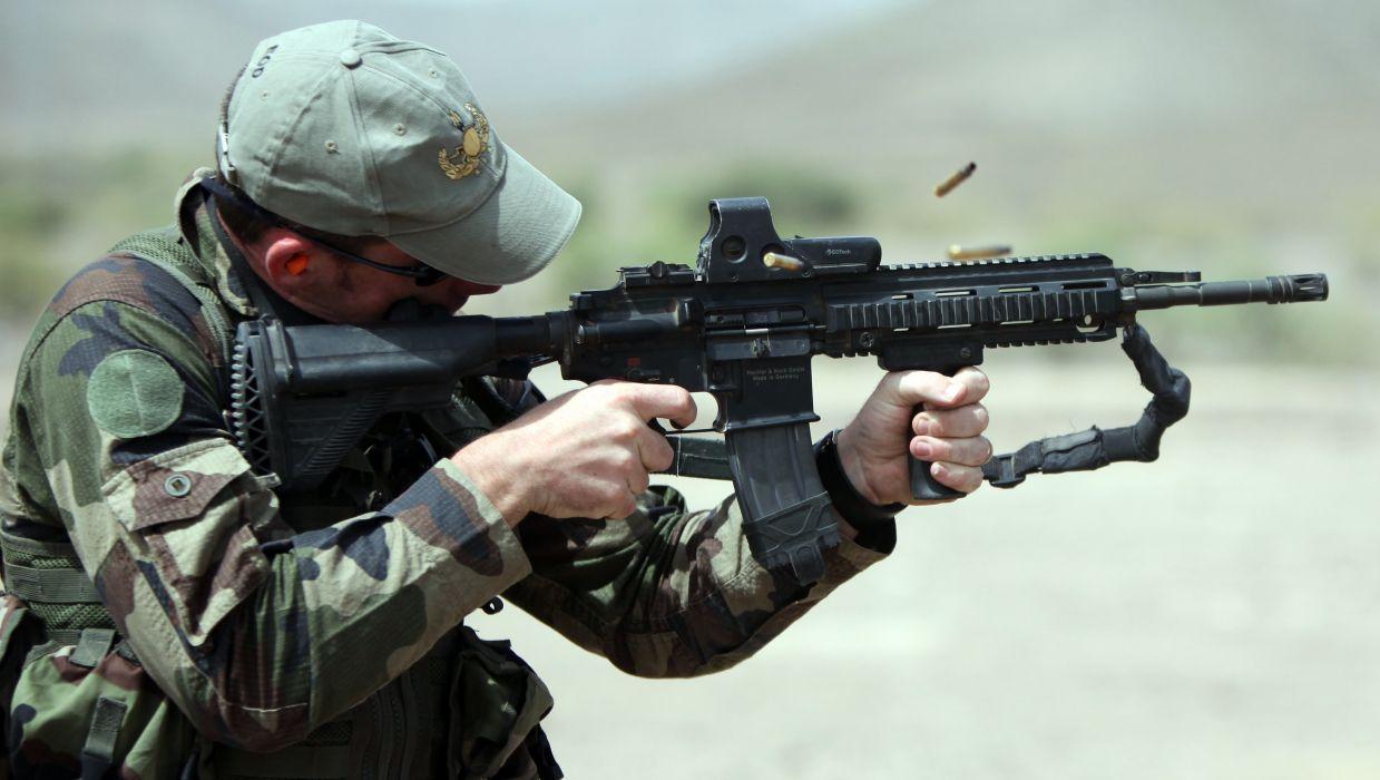 Heckler & Koch 416 weapon gun military rifle ammo soldier    g wallpaper