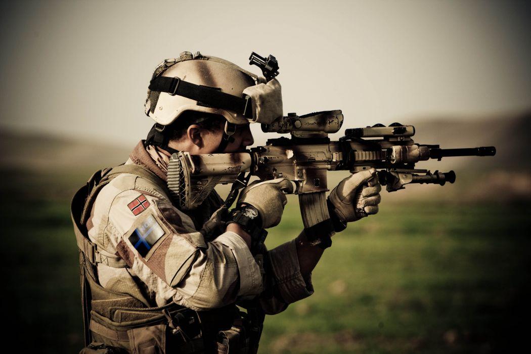 Heckler & Koch 416 weapon gun military rifle soldier        t wallpaper