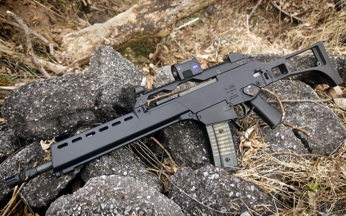 Heckler & Koch G36 weapon gun military rifle    h wallpaper