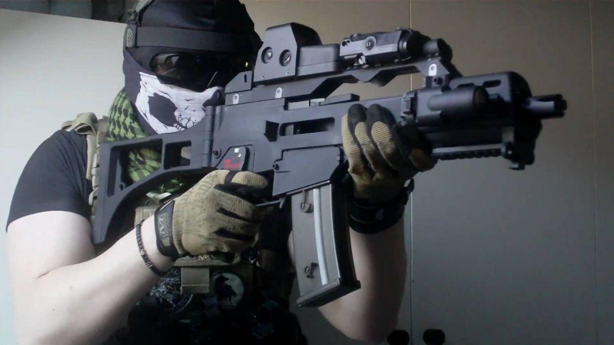 Heckler & Koch G36 weapon gun military rifle   tw wallpaper