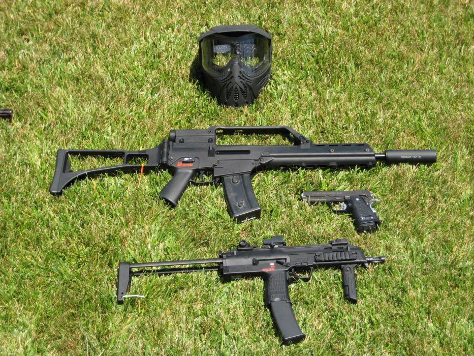 Heckler & Koch G36 weapon gun military rifle MP7       h wallpaper