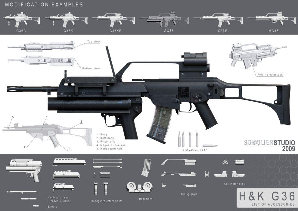 Heckler & Koch G36 weapon gun military rifle poster         g wallpaper