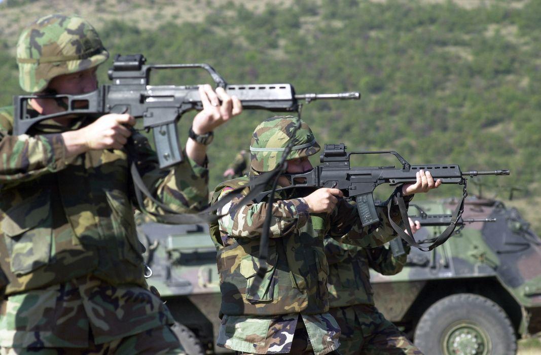 Heckler & Koch G36 weapon gun military rifle soldier       t_JPEG wallpaper