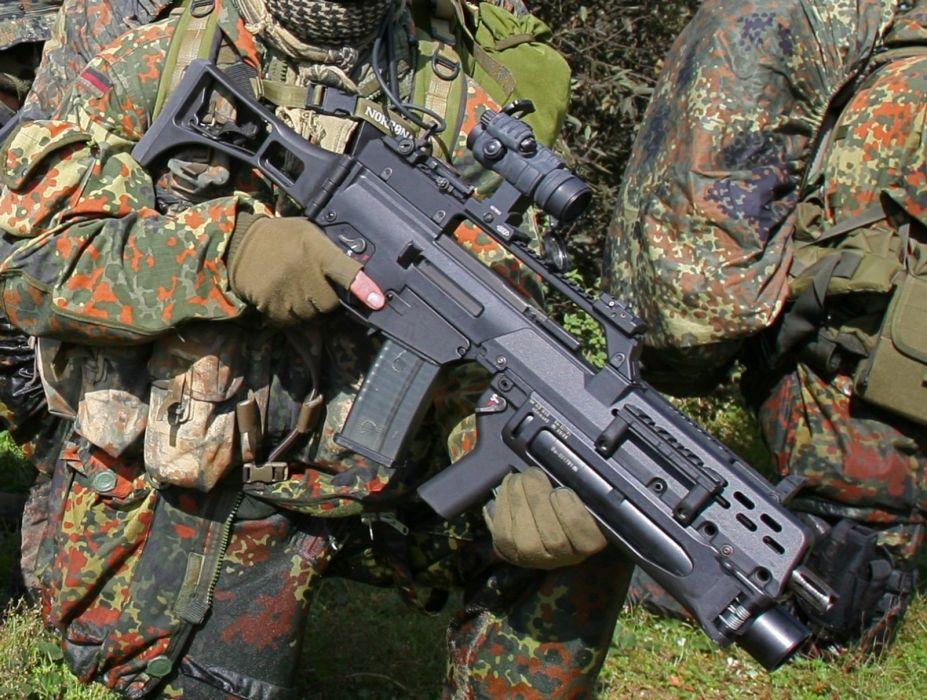 Heckler & Koch G36 weapon gun military rifle soldier    u wallpaper