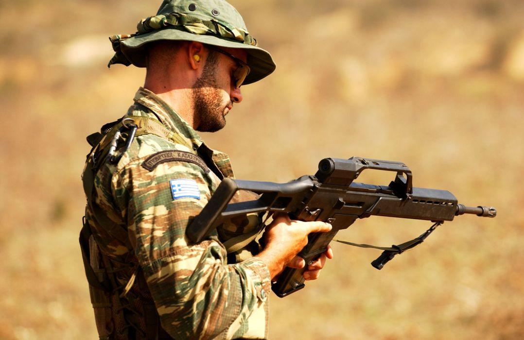 Heckler & Koch G36 weapon gun military rifle soldier   j wallpaper