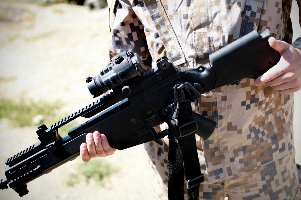 Heckler & Koch G36 weapon gun military rifle soldier   h wallpaper