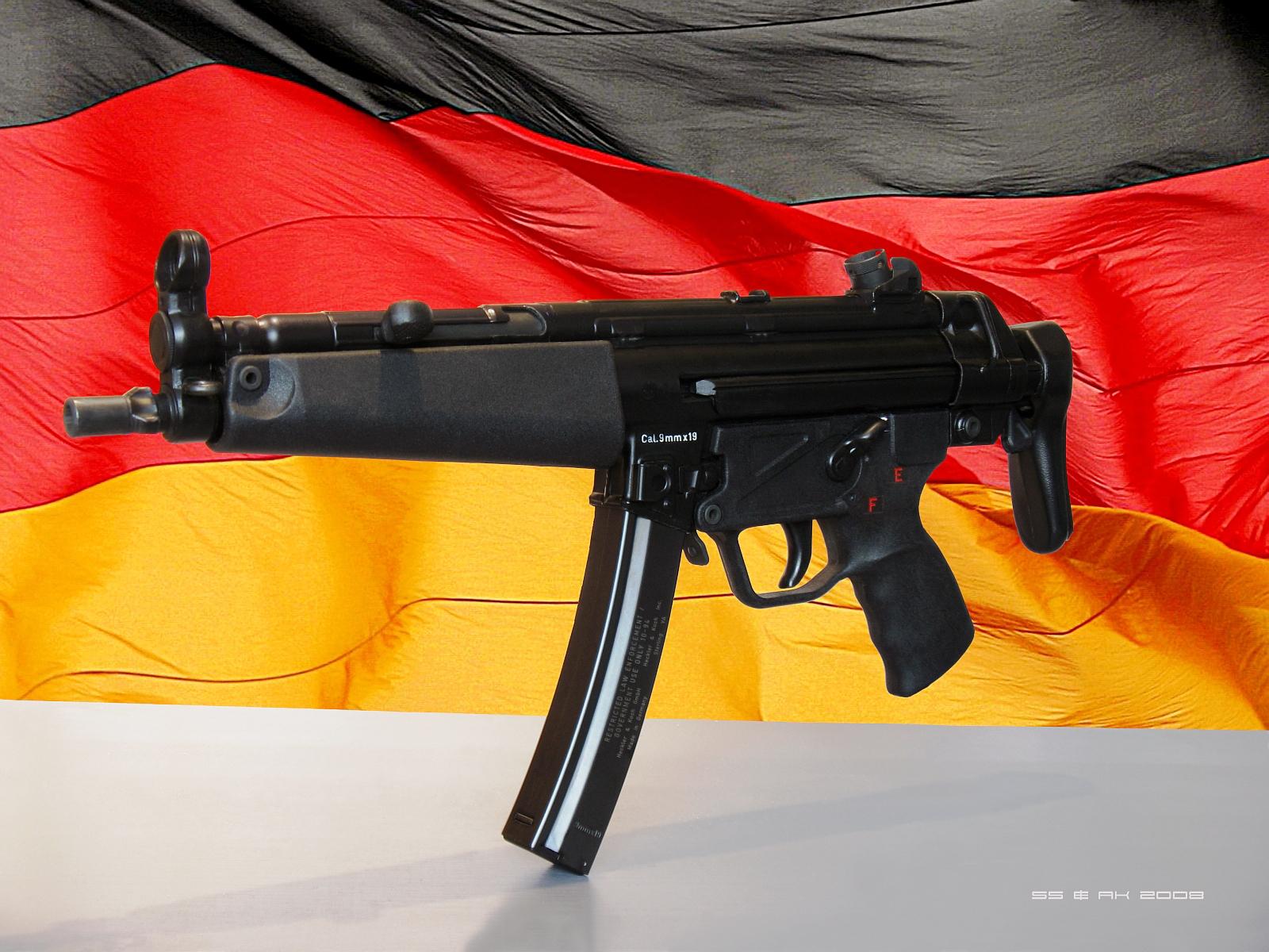 Download wallpaper: gun, pistol machine gun 5, MP5 wallpaper ...