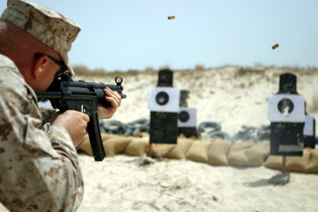 Heckler & Koch MP5 weapon gun military soldier       f wallpaper