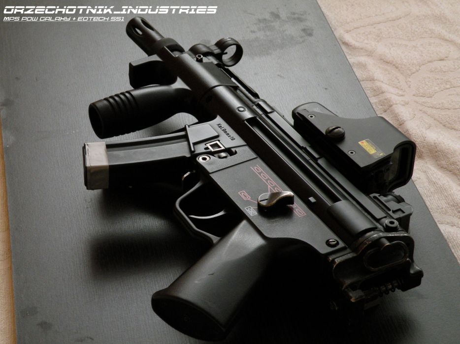 Heckler & Koch MP5A3 weapon gun military poster     f wallpaper