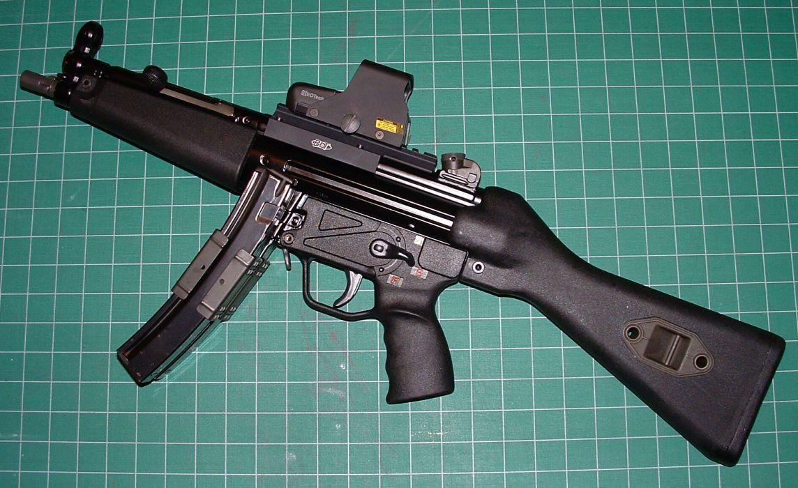 Heckler & Koch MP5A3 weapon gun military        g wallpaper