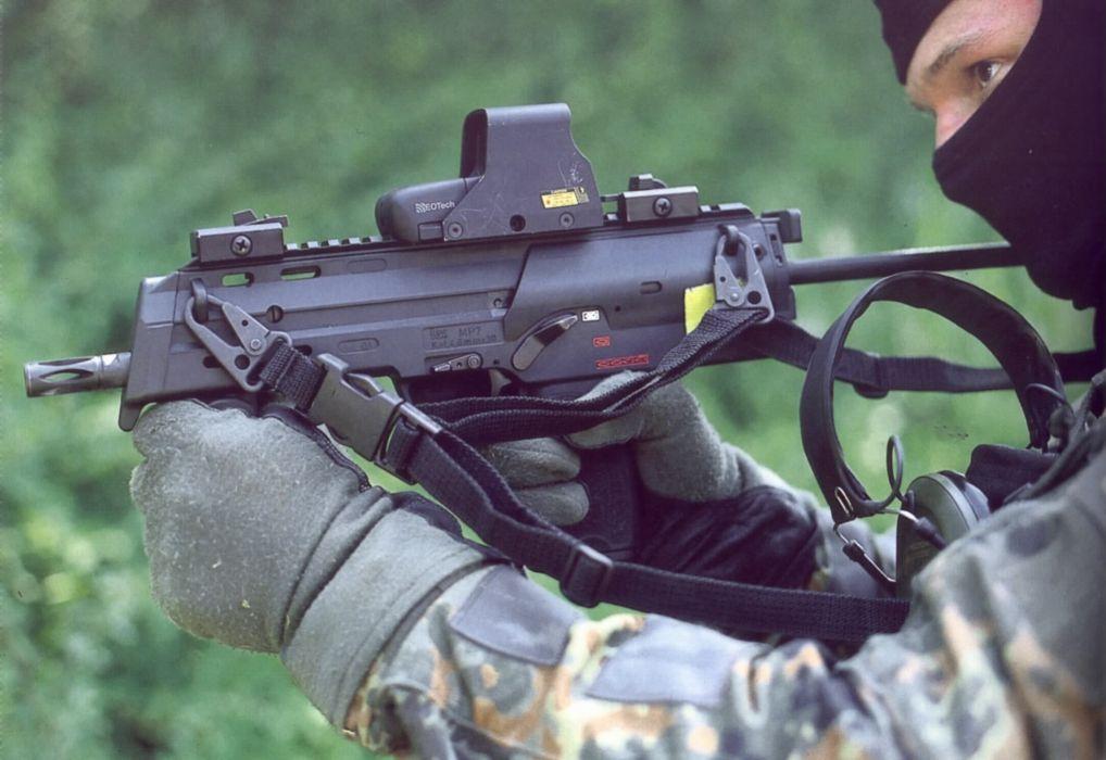 Heckler & Koch MP7 weapon gun military machine soldier      gg wallpaper