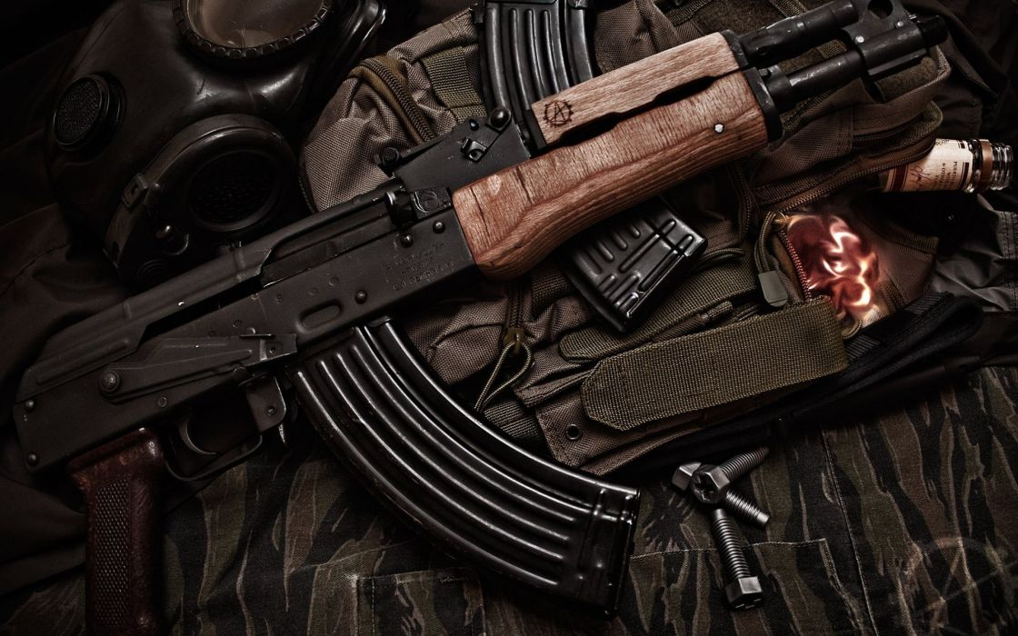 KALASHNIKOV AK-47 weapon gun military rifle     t wallpaper