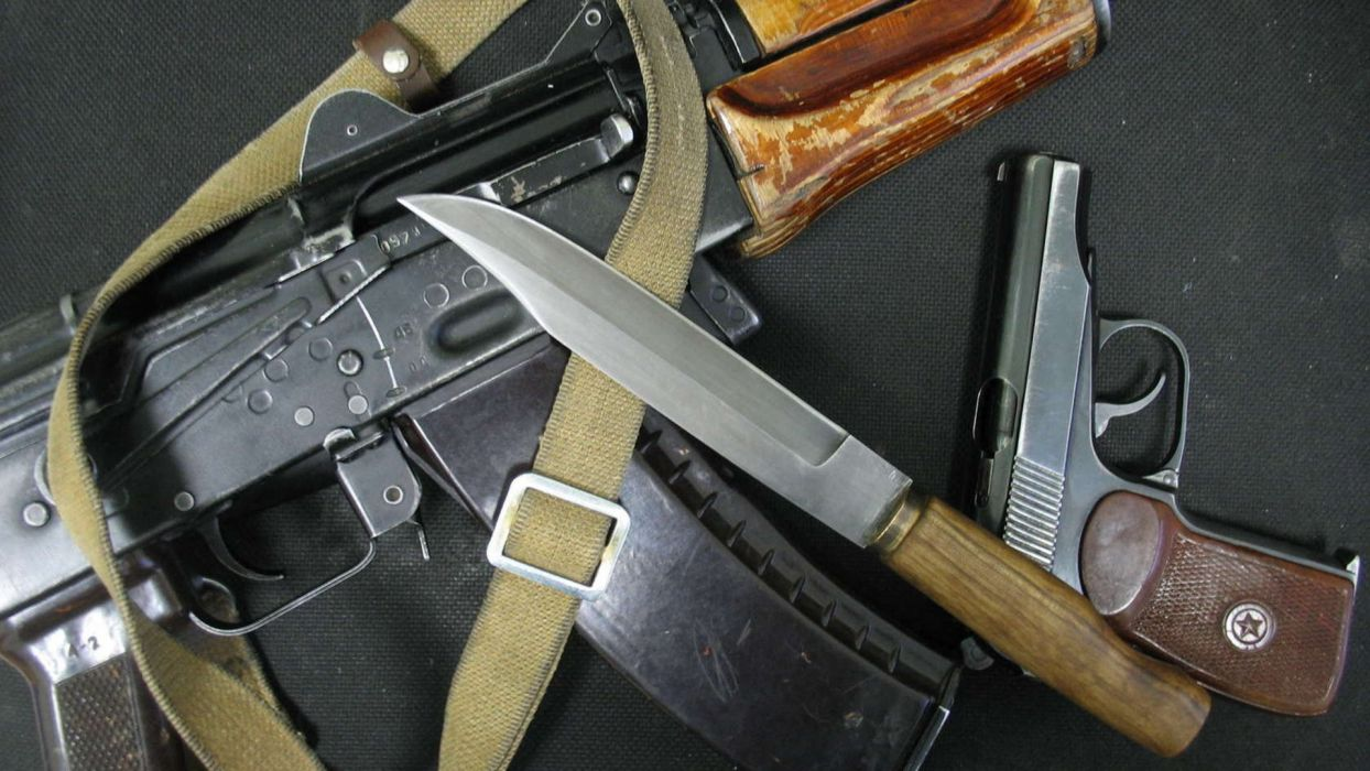 KALASHNIKOV AK-47 weapon gun military rifle    ey wallpaper