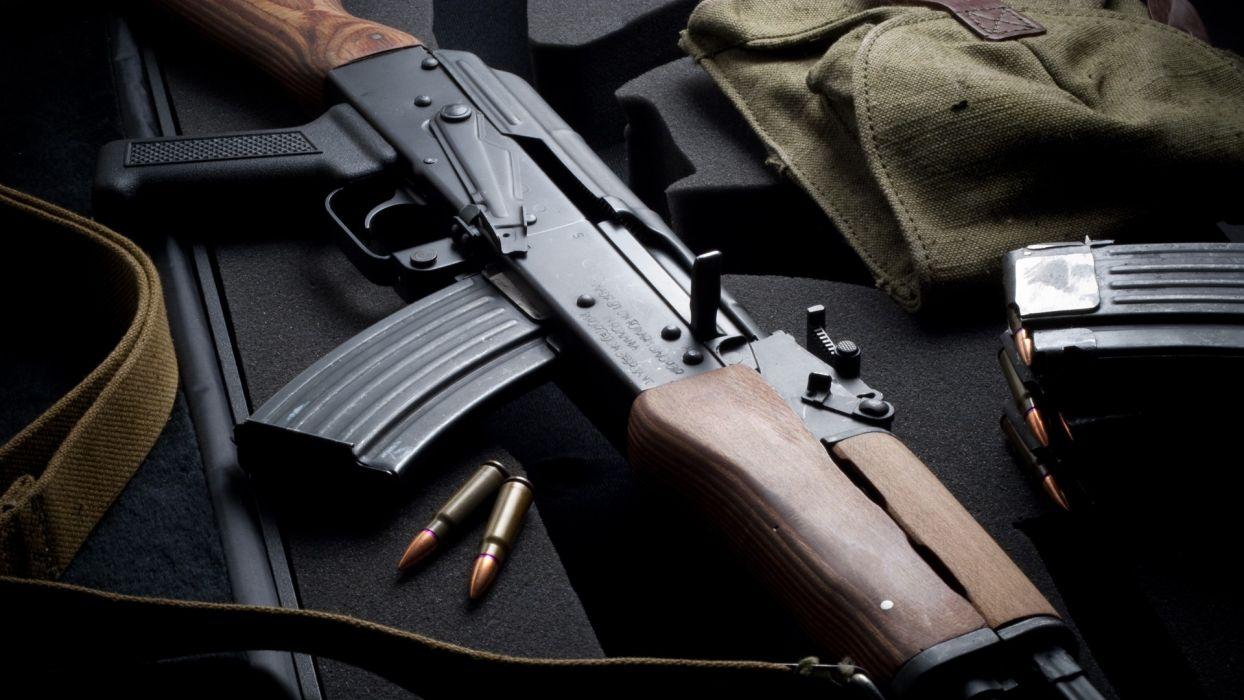 KALASHNIKOV AK-47 weapon gun military rifle ammo      f wallpaper