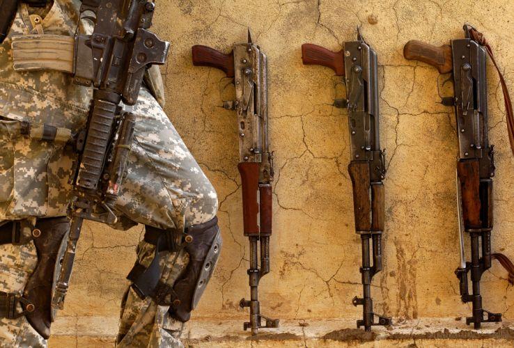KALASHNIKOV AK-47 weapon gun military rifle soldier f wallpaper