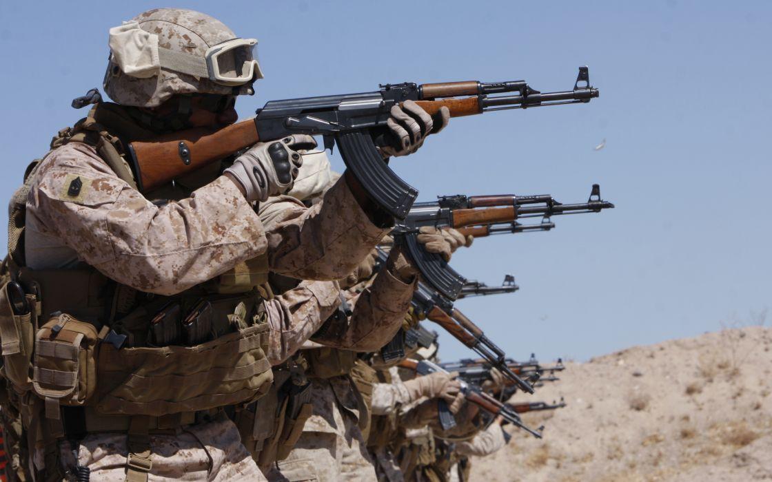 KALASHNIKOV AK-47 weapon gun military rifle soldier   t wallpaper