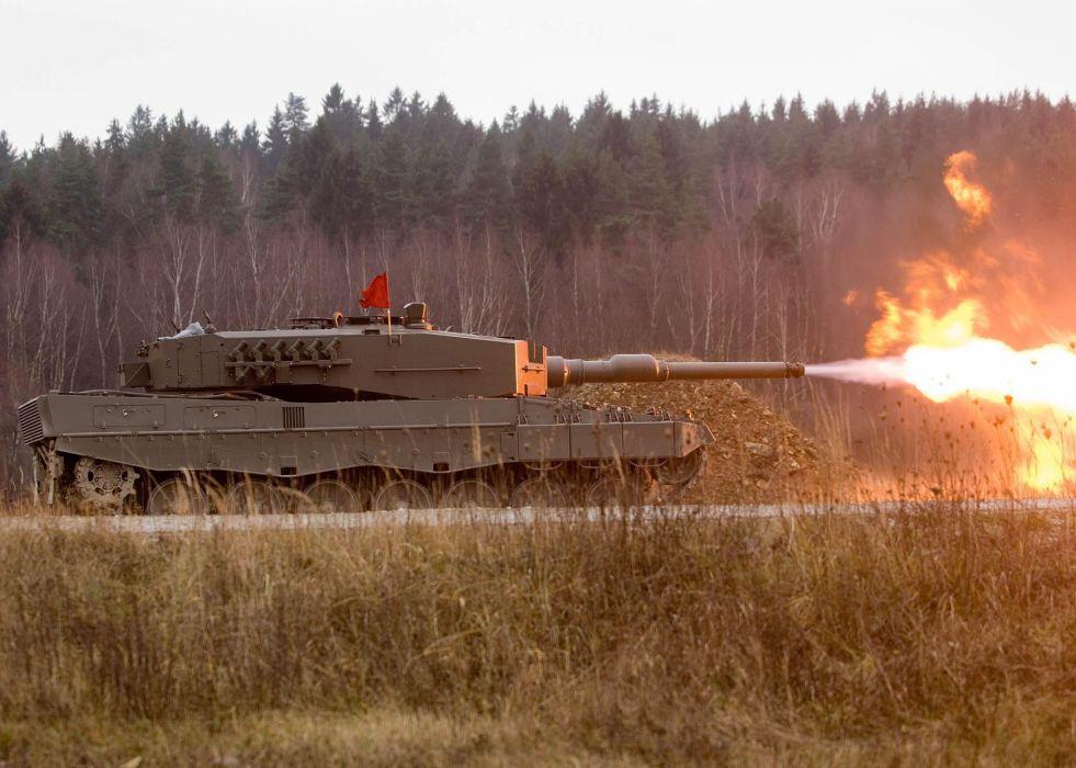 LEOPARD 2 TANK weapon military tanks leopard-2 fire   f wallpaper