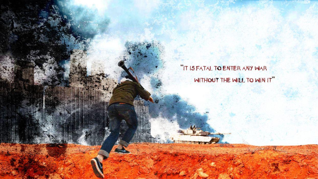 M1A1 ABRAMS TANK weapon military tanks anarchy battle war poster text      g wallpaper