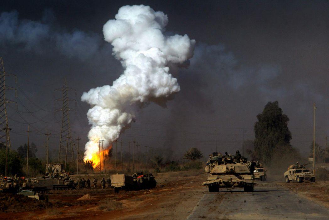 M1A1 ABRAMS TANK weapon military tanks explosion battle fire  w wallpaper
