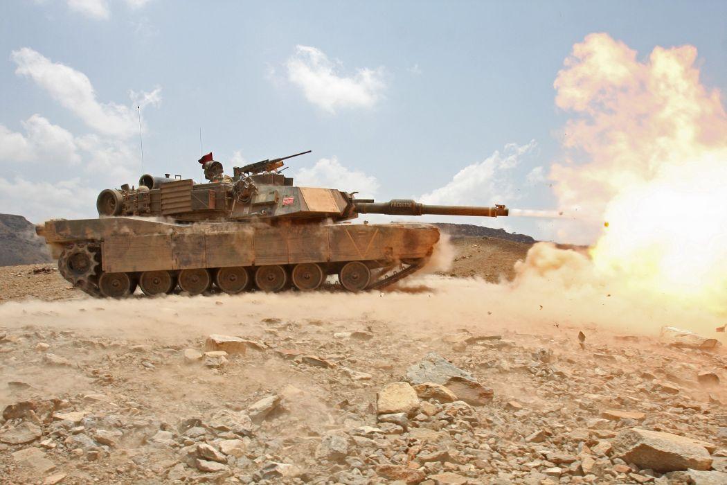 M1A1 ABRAMS TANK weapon military tanks fire    e wallpaper
