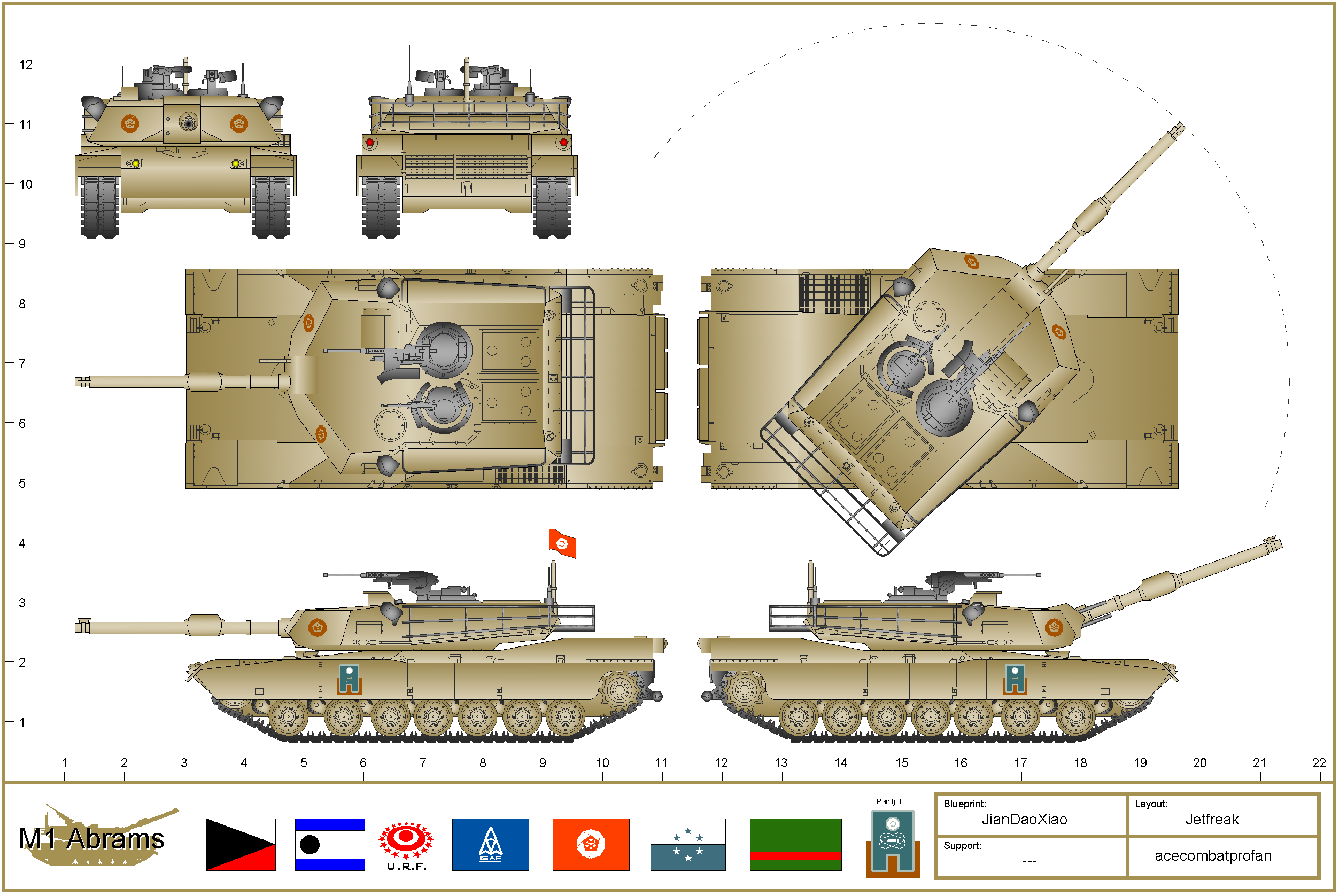 M1a1 Abrams Drawing