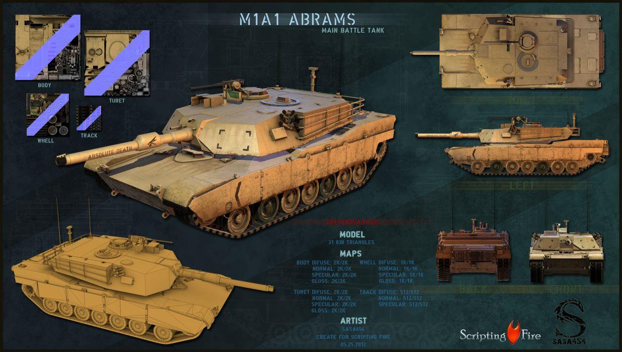 M1A1 ABRAMS TANK weapon military tanks poster    d wallpaper