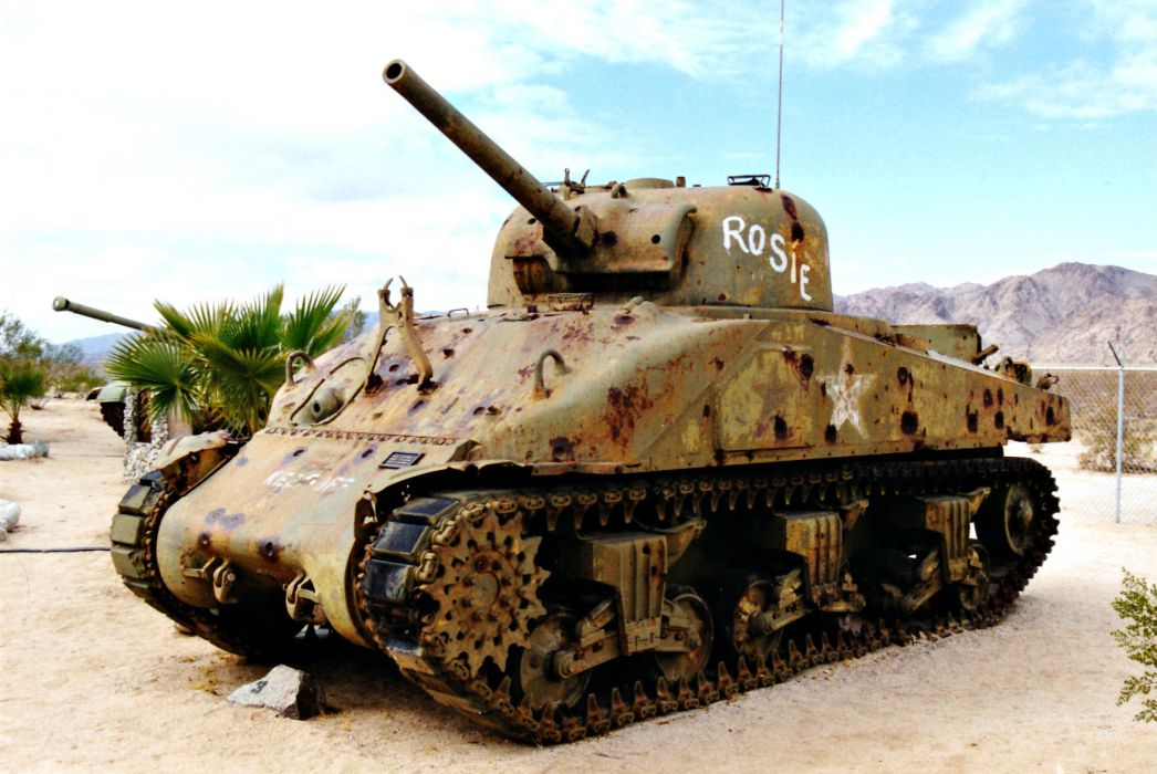 M-4 SHERMAN TANK weapon military tanks retro     dd wallpaper