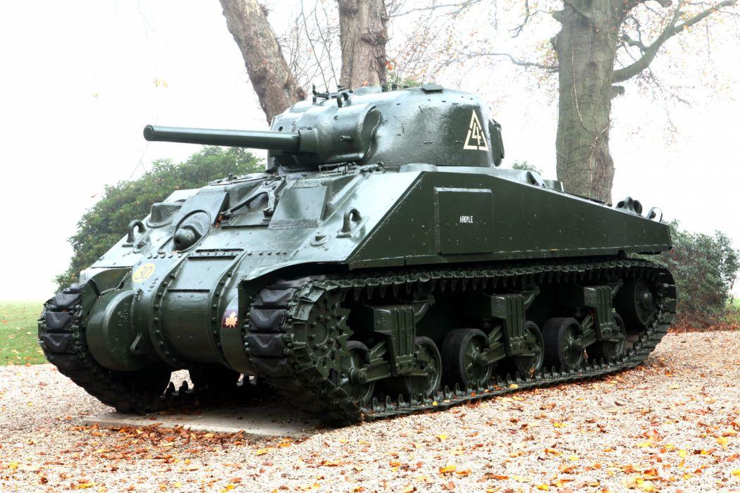 M-4 SHERMAN TANK weapon military tanks retro   d wallpaper