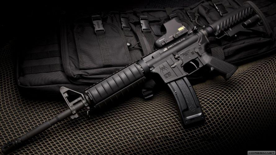 M4A1 weapon gun military rifle police h wallpaper
