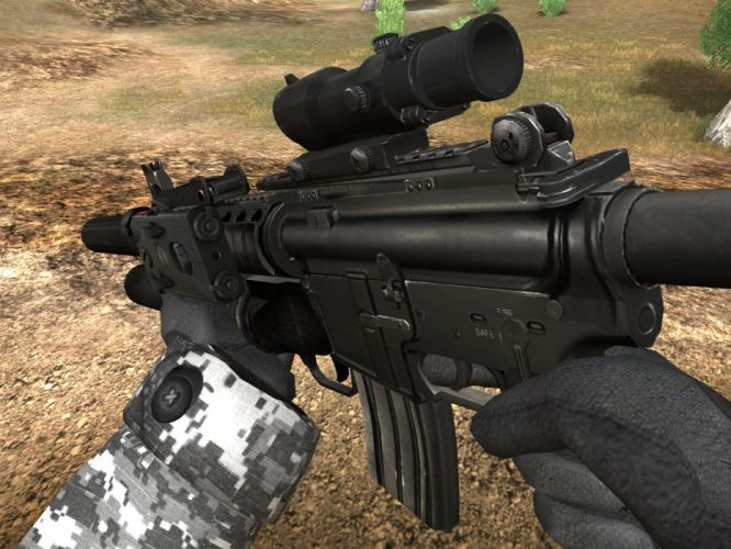 M4A1 weapon gun military rifle police f wallpaper