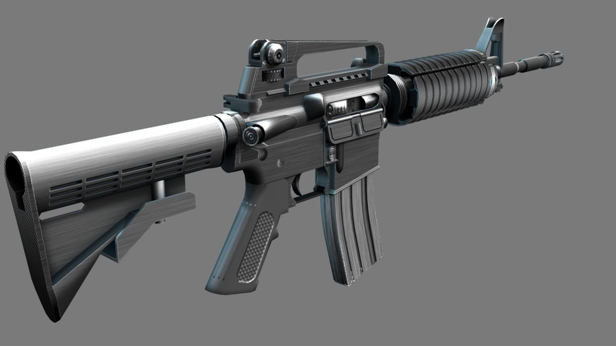 M4A1 weapon gun military rifle police     te wallpaper