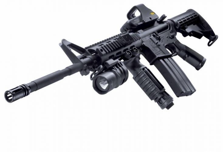 M4A1 weapon gun military rifle police t wallpaper