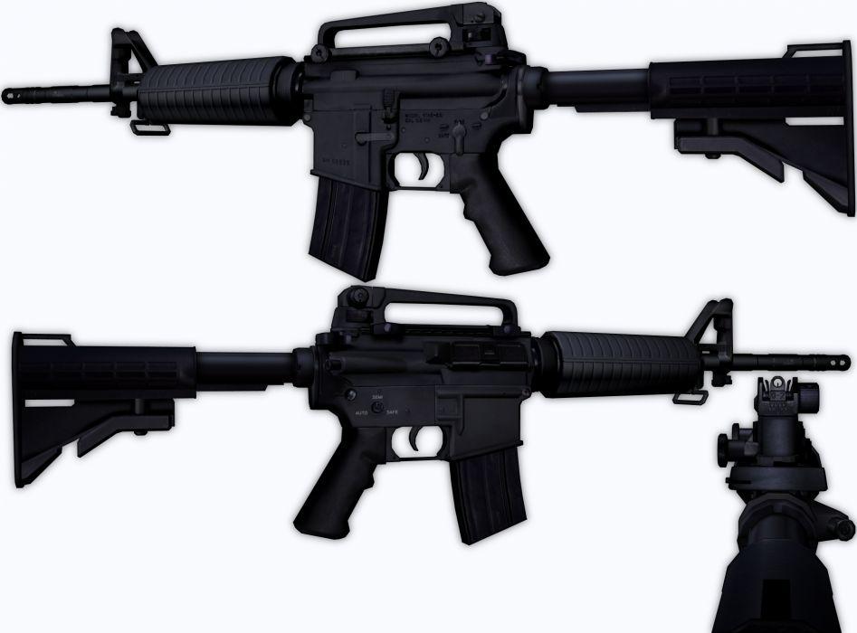 M4A1 weapon gun military rifle police   gw wallpaper