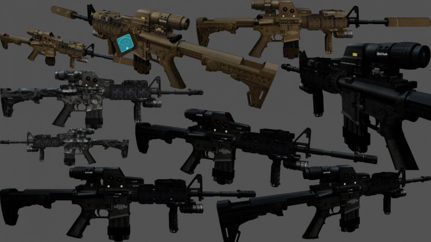 M4A1 weapon gun military rifle police rw wallpaper