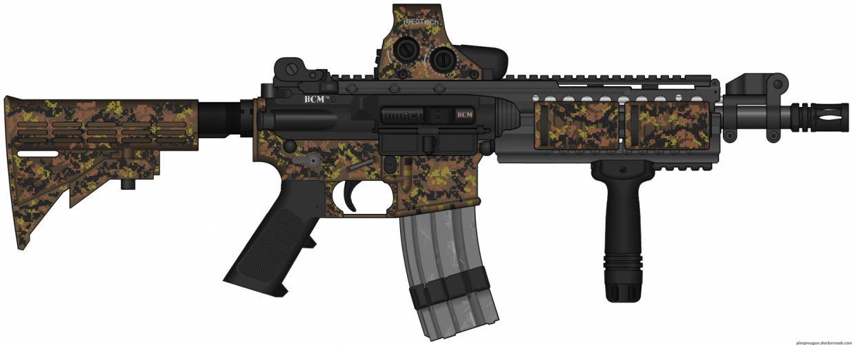 M4A1 weapon gun military rifle police modern warfare h wallpaper