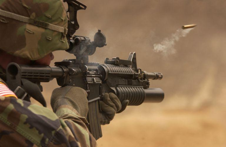 M4A1 weapon gun military rifle police ammo d wallpaper