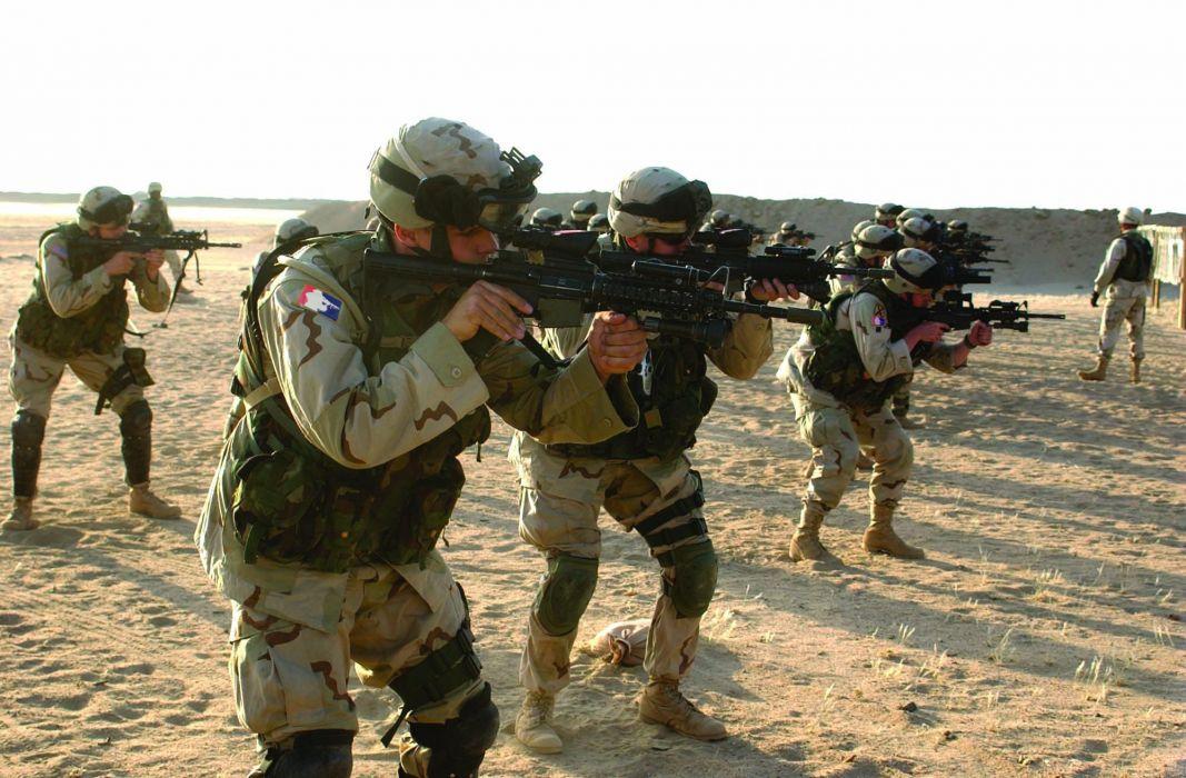 M4A1 weapon gun military rifle police soldier      g wallpaper