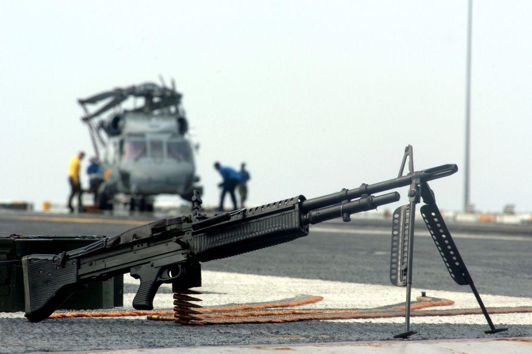 M60 MACHINE GUN military rifle weapon   g wallpaper