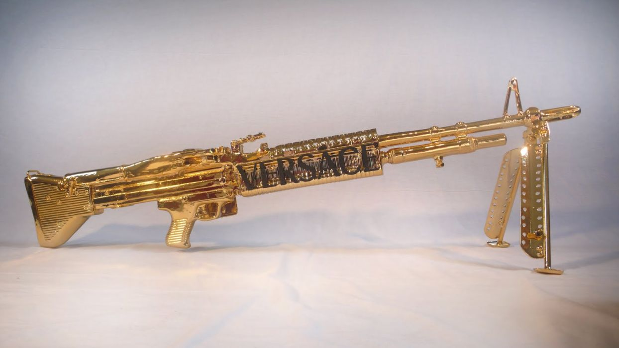 M60 MACHINE GUN military rifle weapon gold       g wallpaper