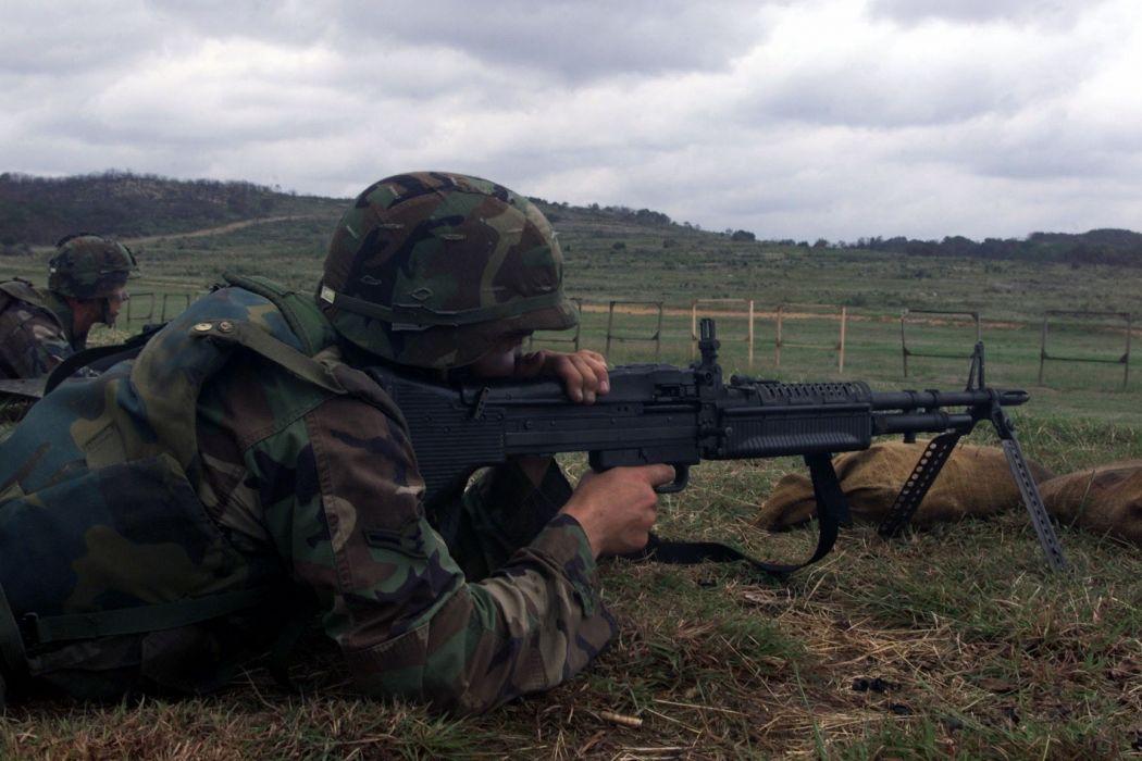 M60 MACHINE GUN military rifle weapon soldier    tw wallpaper