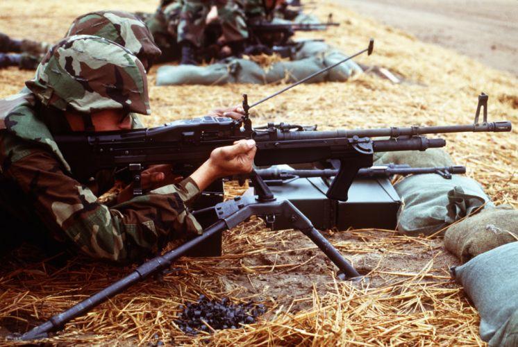 M60 MACHINE GUN military rifle weapon soldier g wallpaper