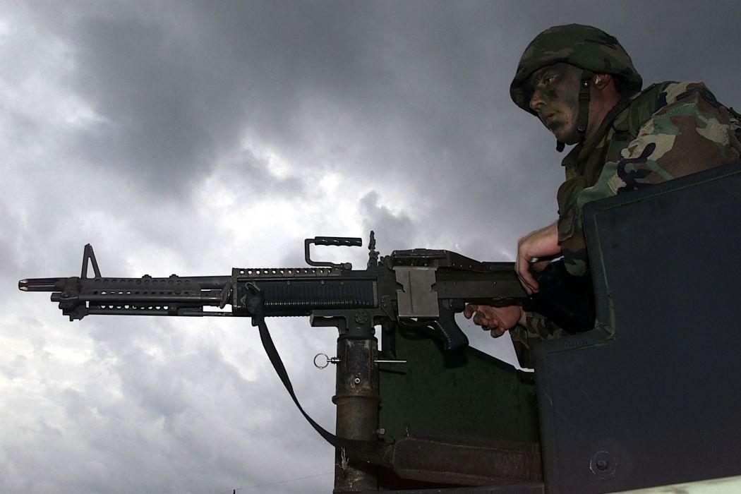 M60 MACHINE GUN military rifle weapon soldier t wallpaper