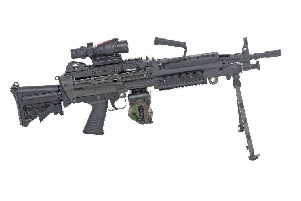 M249 SAW machine weapon gun military          t wallpaper