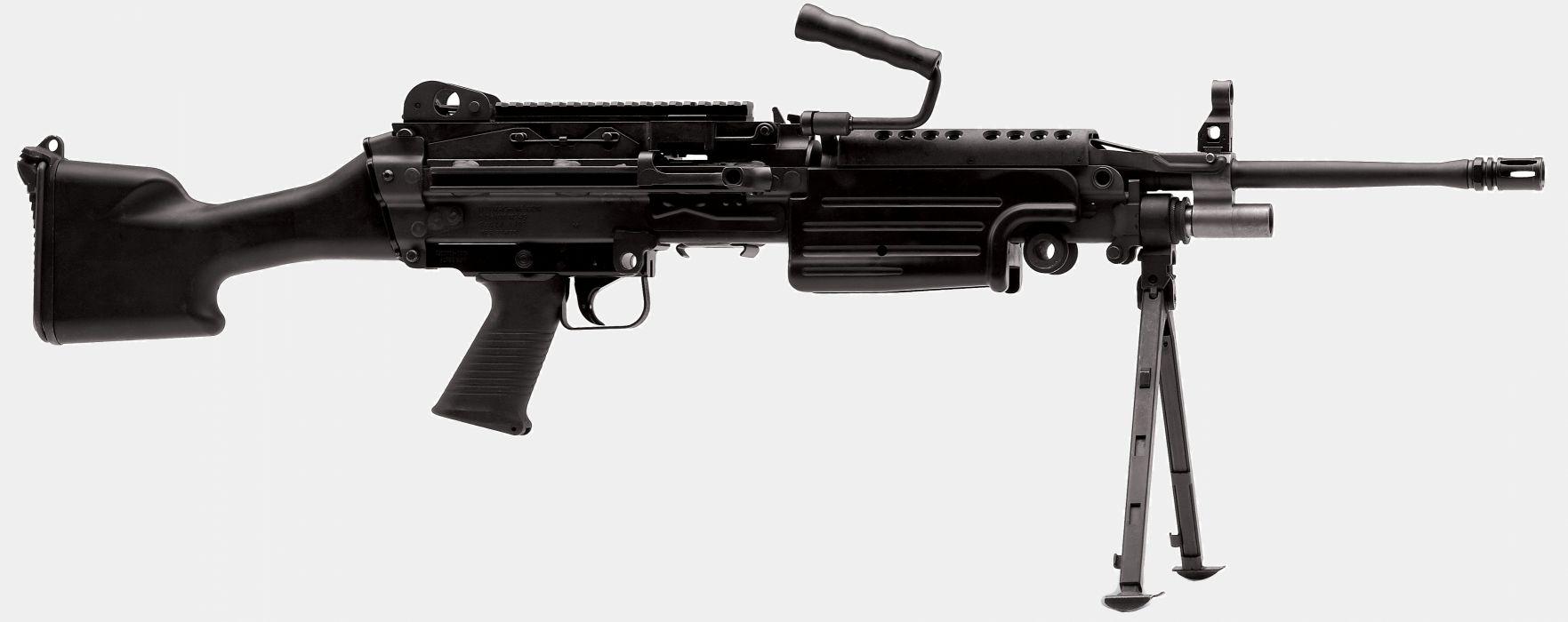 M249 SAW machine weapon gun military    f wallpaper